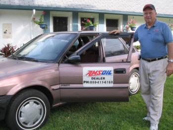 Ted with his AMSOIL ONLY Geo Prizm